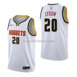 Maillot Denver Nuggets Tyler Lydon Association Blanc