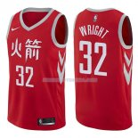 Maillot Houston Rockets Brandan Wright Ciudad 2017-18 32 Rojo