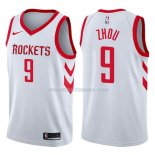 Maillot Houston Rockets Zhou Qi Swingman Association 2017-18 9 Blancoo