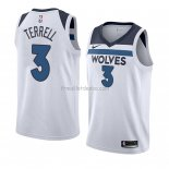 Maillot Minnesota Timberwolves Jarouge Terrell Association 2018 Blanc