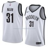 Maillot Brooklyn Nets Jarrett Allen Association 2018 Blanc Blanc