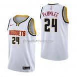 Maillot Denver Nuggets Mason Plumlee Association Blanc