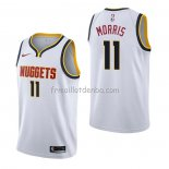 Maillot Denver Nuggets Monte Morris Association Blanc