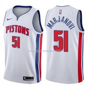 Maillot Detroit Pistons Boban Marjanovic Association 2017-18 51 Blancoo