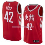 Maillot Houston Rockets Nene Ciudad 2018 Rouge