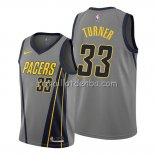 Maillot Indiana Pacers Myles Turner Ville Edition Gris