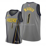Maillot Indiana Pacers T.j. Warren Ville Gris