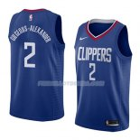 Maillot Los Angeles Clippers Shai Gilgeous-alexander Icon 2018 Bleu