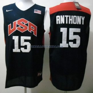 Maillot Basket USA Anthony 15 Bleu 2012