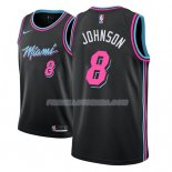 Maillot Miami Heat Tyler Johnson Ciudad 2018-19 Noir