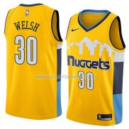Maillot Denver Nuggets Thomas Welsh Statement 2018 Jaune
