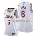 Maillot Los Angeles Lakers Lebron James Association 2019-20 Blanc