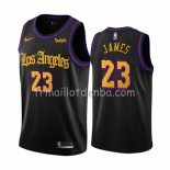 Maillot Los Angeles Lakers Lebron James Ville 2019-20 Noir