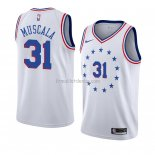 Maillot Philadelphia 76ers Mike Muscala Earned 2018-19 Blanc