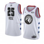 Maillot All Star 2019 Minnesota Timberwolves Derrick Rose Blanc
