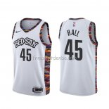 Maillot Brooklyn Nets Donta Hall Ville 2020 Blanc