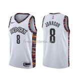 Maillot Brooklyn Nets Tyler Johnson Ville 2020 Blanc