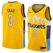 Maillot Denver Nuggets Torrey Craig Statement 2018 Jaune
