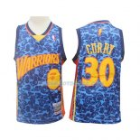 Maillot Golden State Warriors Stephen Curry Mitchell & Ness Bleu