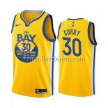 Maillot Golden State Warriors Stephen Curry Ville 2019-20 Jaune