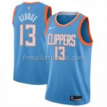 Maillot Los Angeles Clippers Paul George Ciudad 2019 Bleu