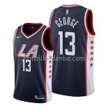 Maillot Los Angeles Clippers Paul George Ciudad 2019 Noir