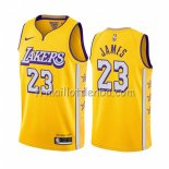 Maillot Los Angeles Lakers Lebron James Ville 2019-20 Jaune