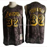 Maillot Los Angeles Lakers Magic Johnson Hardwood Classics Noir