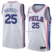 Maillot Philadelphia 76ers Mikal Bridges Association 2018 Blanc Blanc