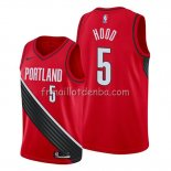 Maillot Portland Trail Blazers Rodney Hood Statement Edition Rouge Noir