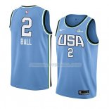 Maillot 2019 Rising Star Lonzo Ball USA Bleu