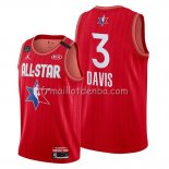 Maillot All Star 2020 Los Angeles Lakers Anthony Davis Rouge