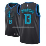 Maillot Dallas Mavericks Jalen Brunson Ciudad 2018-19 Noir