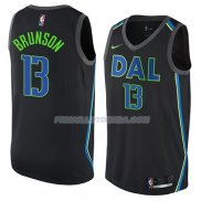 Maillot Dallas Mavericks Jalen Brunson Ciudad 2018 Noir