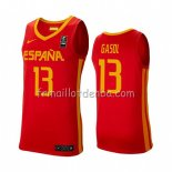 Maillot Espagne Marc Gasol 2019 FIBA Baketball World Cup Rouge
