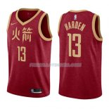 Maillot Houston Rockets James Harden Ciudad 2018-19 Rouge