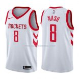 Maillot Houston Rockets Le'bryan Nash Association 2017-18 8 Blancoo