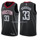 Maillot Houston Rockets Ryan Anderson Statehombret 2017-18 33 Negro