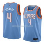 Maillot Los Angeles Clippers Milos Teodosic Ciudad 2018 Bleu