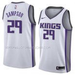 Maillot Sacramento Kings Jakarr Sampson Association 2018 Blanc