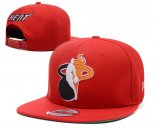 NBA Miami Heat Casquette Rouge 2013