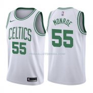 Maillot Boston Celtics Greg Monroe Association 2017-18 55 Blancoo