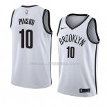 Maillot Brooklyn Nets Theo Pinson Association 2018 Blanc Blanc