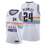 Maillot Denver Nuggets Mason Plumlee Ville Edition Blanc