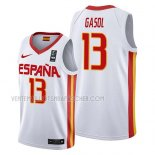 Maillot Espagne Marc Gasol 2019 FIBA Baketball World Cup Blanc