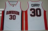 Maillot Basket NCAA Stephen Curry 30 Blanc