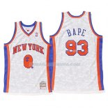Maillot New York Knicks Bape Mitchell & Ness Blanc