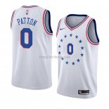 Maillot Philadelphia 76ers Justin Patton Earned 2018-19 Blanc