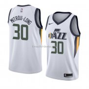 Maillot Utah Jazz Naz Mitrou-long Association 2018 Blanc