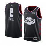 Maillot All Star 2019 Los Angeles Lakers Lonzo Ball Noir